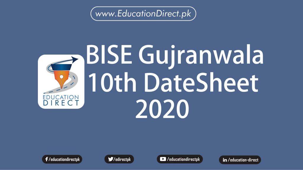 bise-gujranwala-board-10th-class-date-sheet-2020