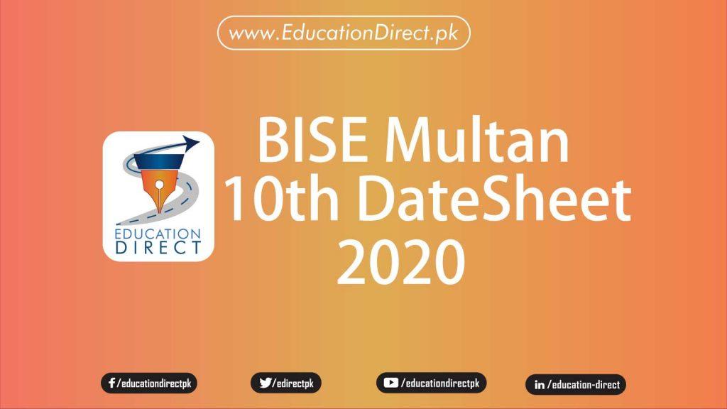 bise-multan-class-10-date-sheet-2020