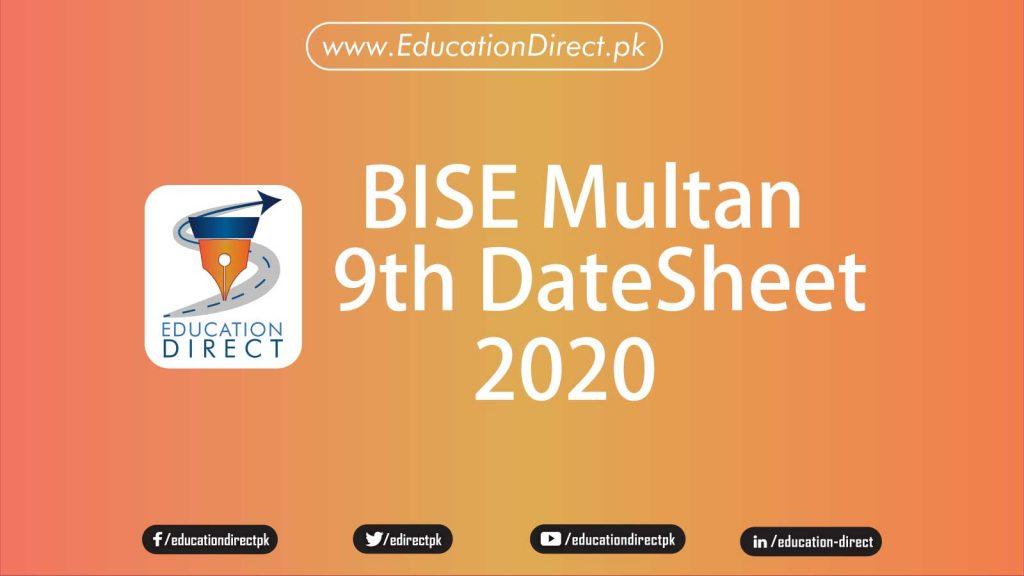 bise-multan-class-9-date-sheet-2020