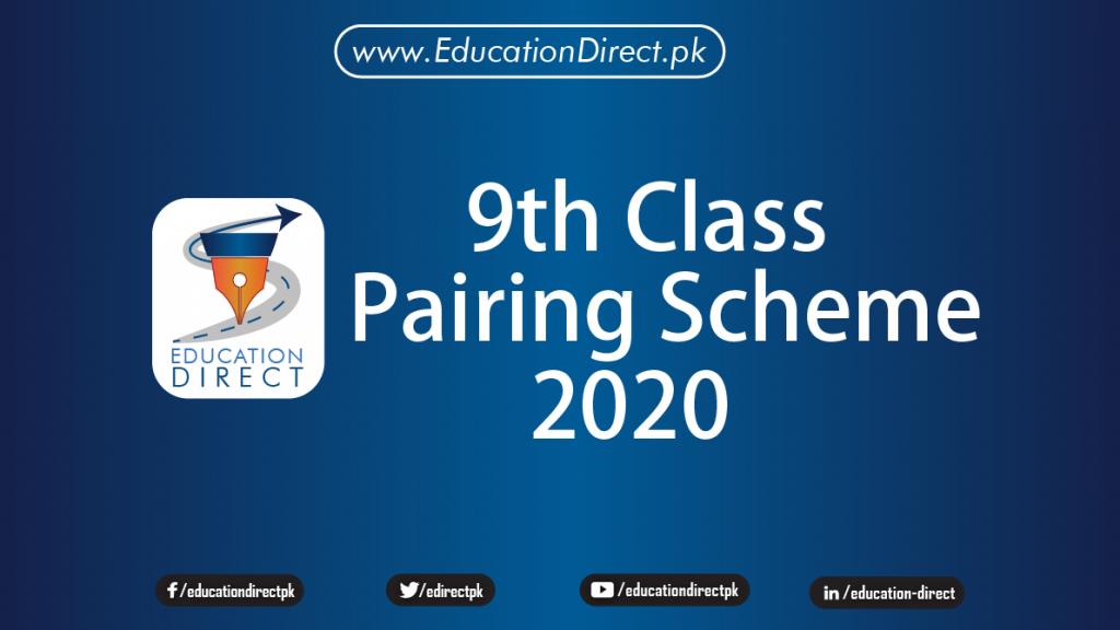 9th class pairing scheme 2020
