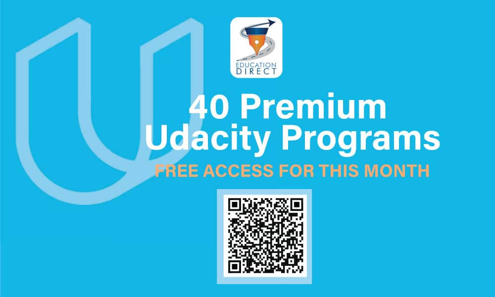 One Month free access to Udacity Programs