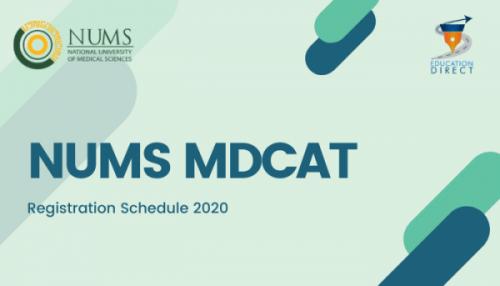 NUMS MDCAT 2020 Schedule