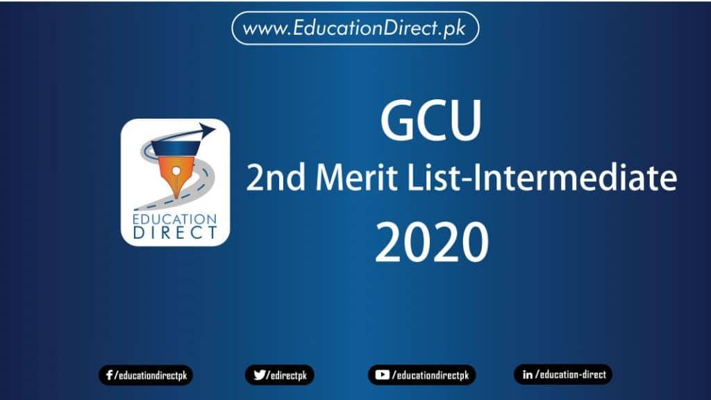 Gcu-2nd-merit-List-2020-Intermediate