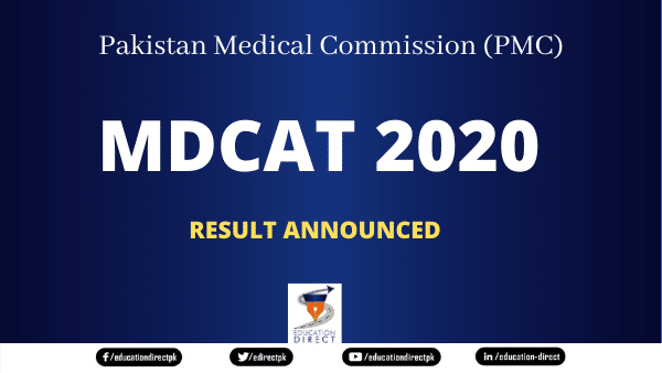 PMC MDCAT 2020 RESULT