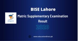Matric Supplementary Result
