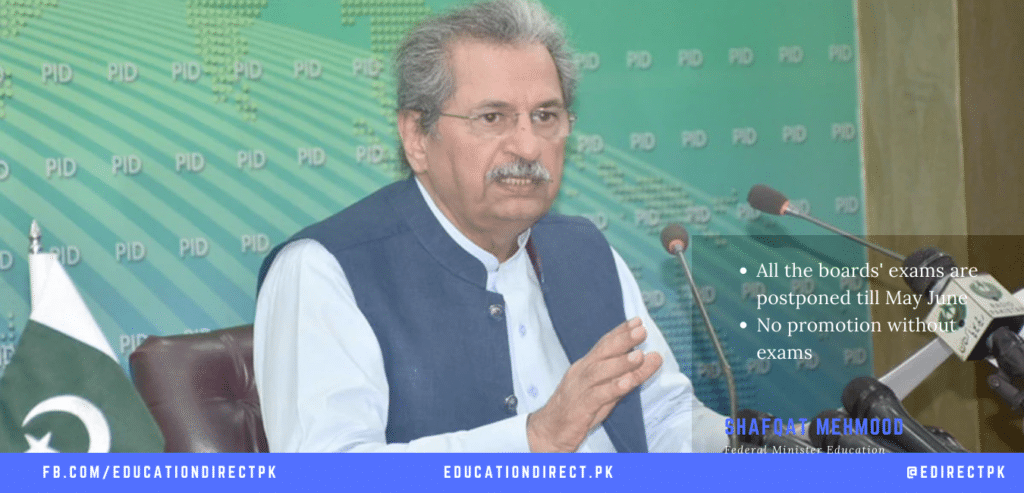 All board exams to be held in May June 2021: Shafqat Mahmood