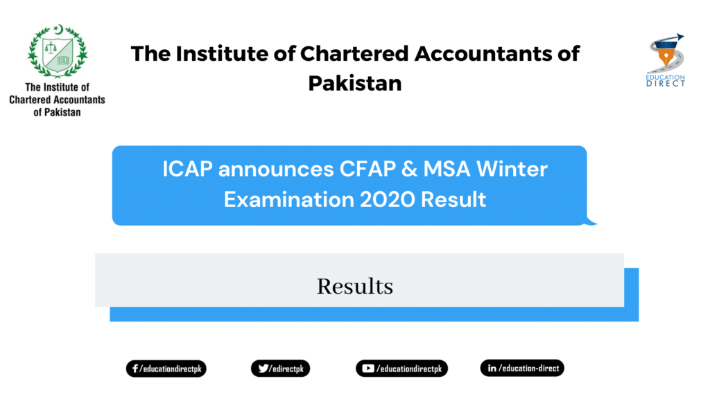CFAP & MSA Winter Examination 2020 Result
