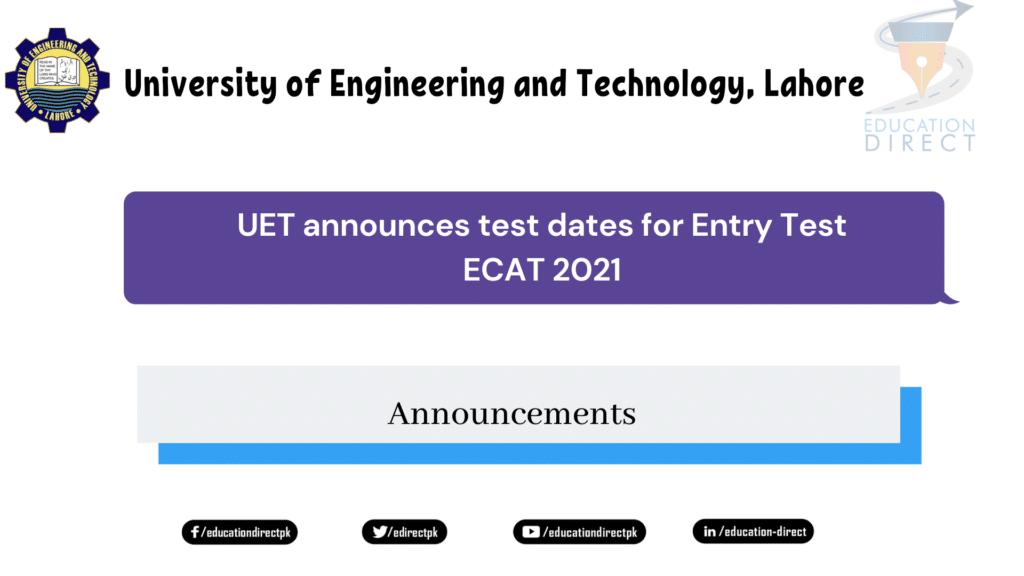 ECAT 2021 Test Date