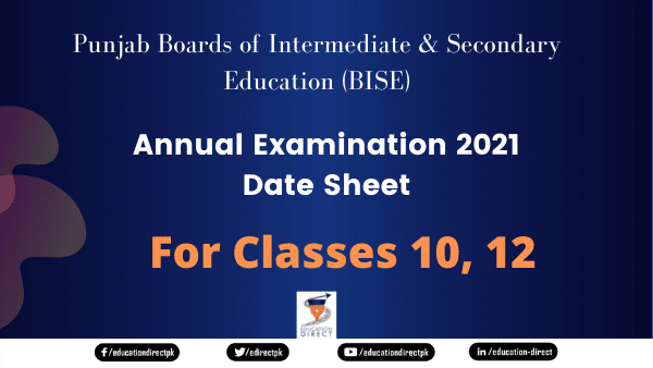 10th and 12th Class DateSheet