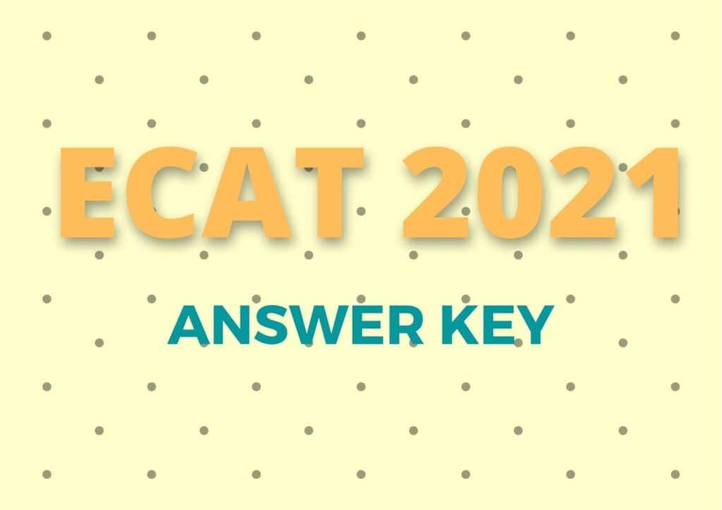 ECAT Answer key 2021