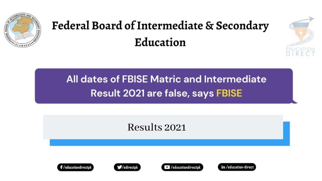 FBISE Result 2021